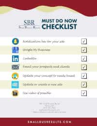 SBR Business Strategic Marketing Checklist